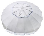 large beach umbrella silver