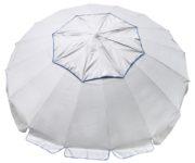 large beach umbrella silver