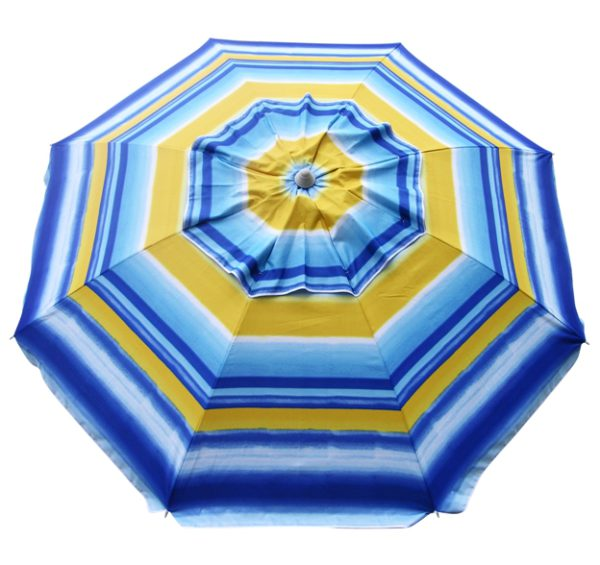 7′ fancy beach umbrella sunburst