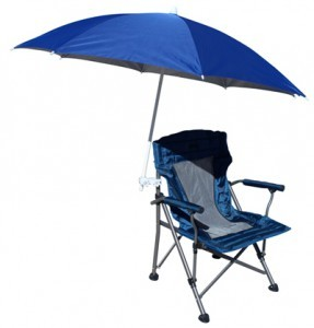 Sturdy beach umbrella chair clamp