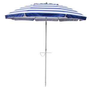 Nautical Blue striped 7' beach umbrella