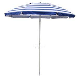 Nautical Blue striped 7' beach umbrella