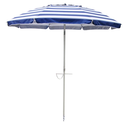 Nautical Blue striped 7′ beach umbrella