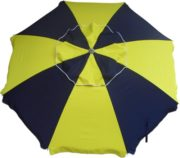 beach umbrella 7 navy yellow