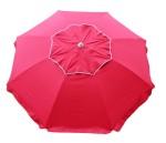 beach umbrella maraschino cherry red