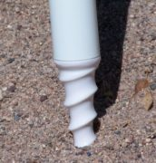 beach umbrella auger tip