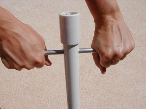 6 5′ Beach Umbrellas w/ Quik Twist™ Self Anchoring