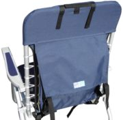 hi back backpack aluminum beach chair navy blue