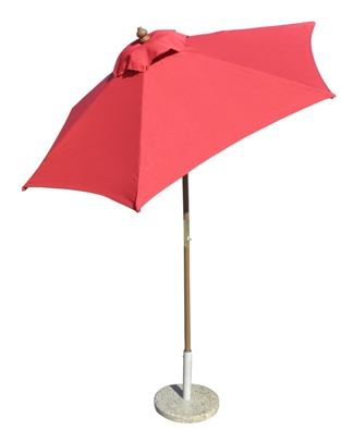 6.5' Wood Market/patio Umbrella