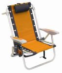 rio backpack beach chair orange cooler