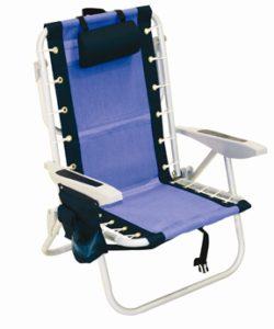 rio backpack beach chair cooler blue