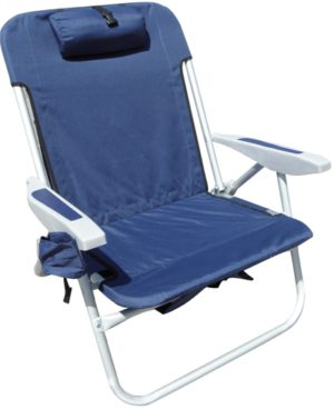 rio extra wide backpack beach chair navy