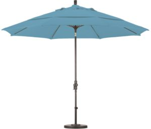 11' Aluminum Olefin Patio Umbrella with Crank and Tilt