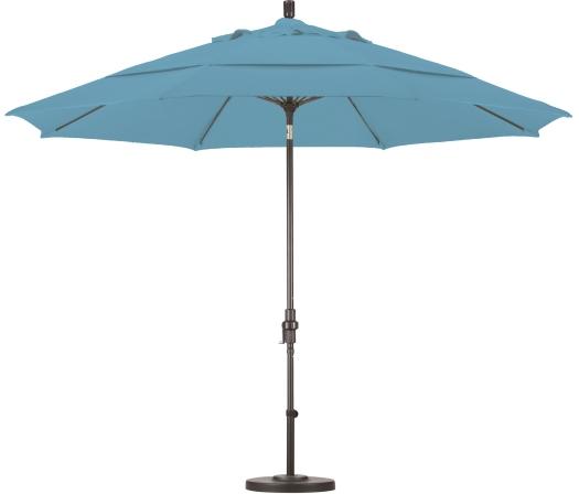 11′ Aluminum Olefin Patio Umbrella with Crank and Tilt