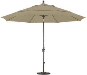 11' Aluminum Pacifica Patio Umbrella with Crank and Tilt