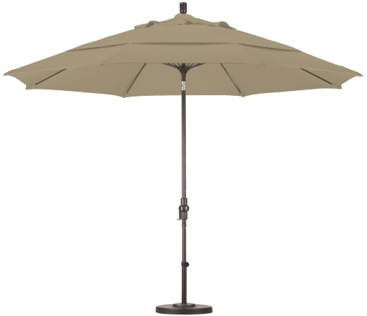 11′ Aluminum Pacifica Patio Umbrella with Crank and Tilt