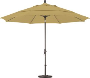 11' Aluminum Sunbrella A Patio Umbrella with Crank and Tilt