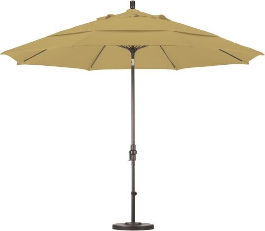 11′ Aluminum Sunbrella A Patio Umbrella with Crank and Tilt