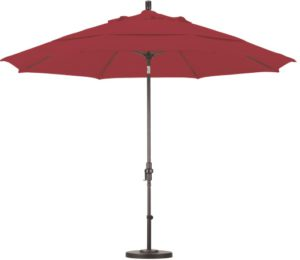 11' Aluminum Sunbrella AA Patio Umbrella with Crank and Tilt
