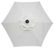 6 Rib Natural Canvas Poly Umbrella replacement canopy top.