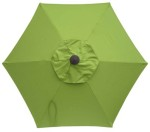6 Rib Olive Umbrella replacement canopy top.