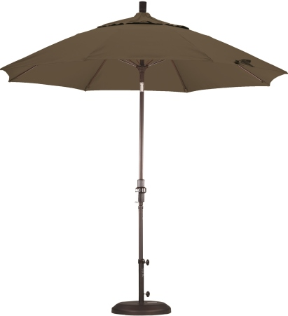 9 Foot Aluminum Sunbrella A Umbrella with Crank