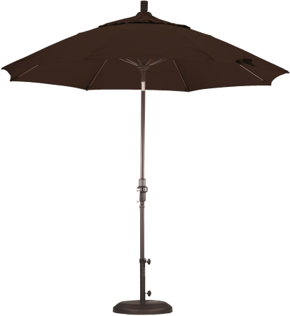 9 Foot Aluminum Sunbrella AA Umbrella with Crank
