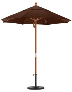 7.5' Wooden Olefin Patio Umbrella