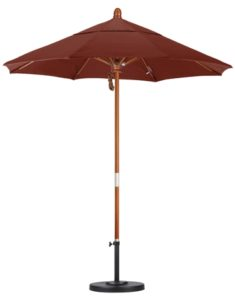 7.5' Wooden Sunbrella AA Patio Umbrella