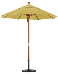 7.5' Wooden Sunbrella A Patio Umbrella