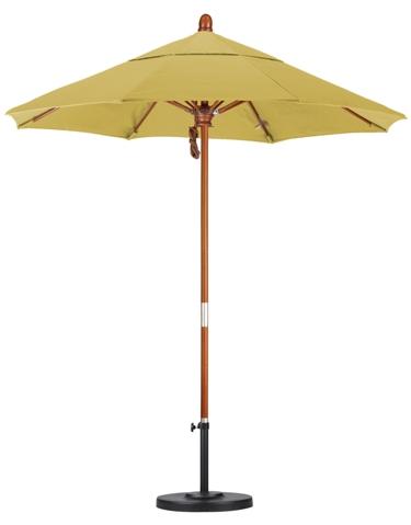7.5′ Wooden Sunbrella A Patio Umbrella