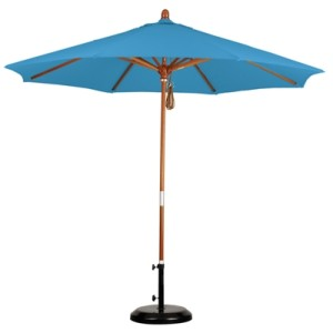 9' Wooden Olefin Patio Umbrella