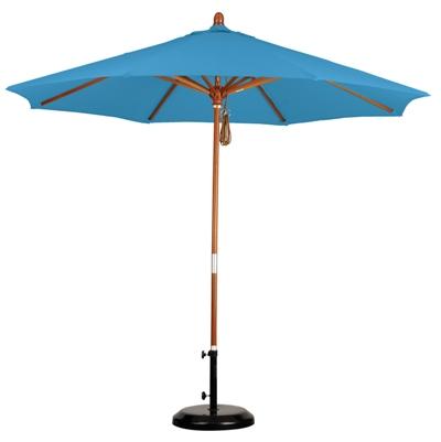 9 Wooden Olefin Patio Umbrella