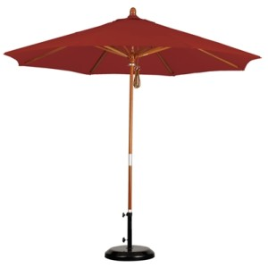 9' Wooden Pacifica Patio Umbrella