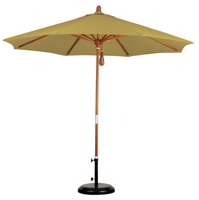 9' Wooden Sunbrella A Patio Umbrella
