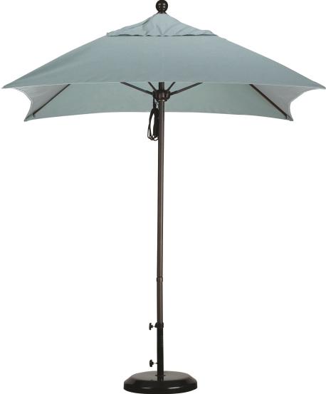 6′ Aluminum Square Sunbrella AA Patio Umbrella