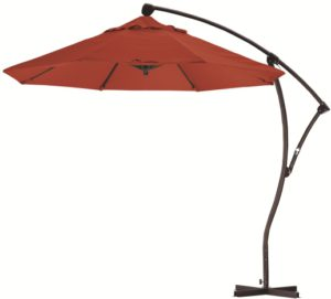 9' Aluminum Cantilever Olefin Patio Umbrella