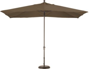 11' Aluminum Rectangular Sunbrella A Patio Umbrella