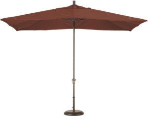 11' Aluminum Rectangular Sunbrella AA Patio Umbrella