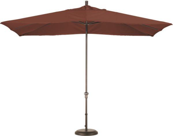 11' Aluminum Rectangular Sunbrella AA Patio Umbrella