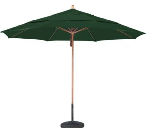 11' Wooden Sunbrella A Patio Umbrella