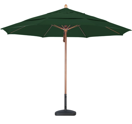 11′ Wooden Sunbrella A Patio Umbrella