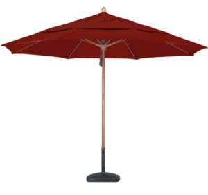 11' Wooden Sunbrella AA Patio Umbrella