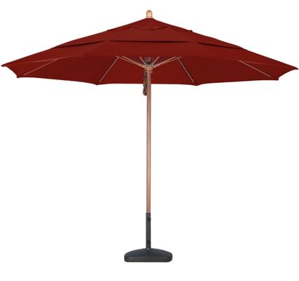 11′ Wooden Sunbrella AA Patio Umbrella