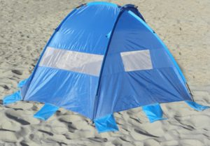 Surf Sider beach tent rear