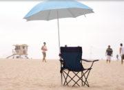 umbrella brace beach