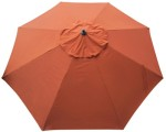 Tuscan Orange Poly umbrella replacement canopy cover top.