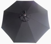 Black Poly or Protexture umbrella replacement canopy cover top.