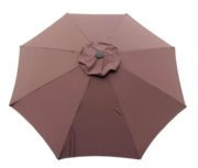 Chocolate Brown poly umbrella replacement canopy cover top.