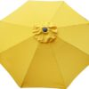 Yellow Poly or Protexture umbrella replacement canopy cover top.